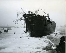 帆船日本丸進水式(1930(昭和5)年